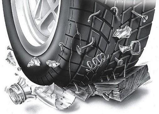 Боковой ремонт и ремонт порезов шин в киеве